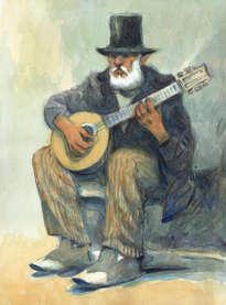 viejo músico