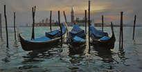 tres gondolas en venezia
