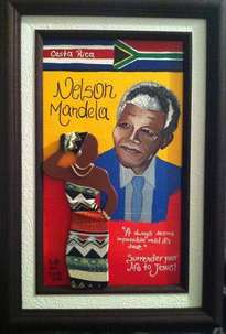 afro costa rican paints riish and toosh (madiba forever)