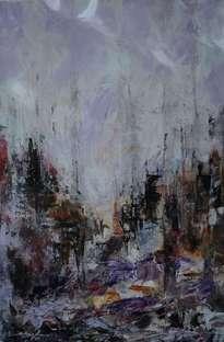 ciudad y reflejo abstracto