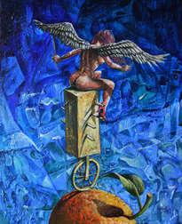 ángel en equilibrio