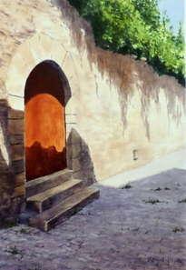 puerta del patio