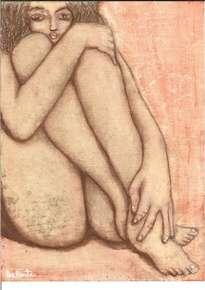 mujer desnuda nos observa