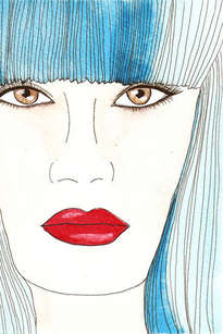 turquesa labios rojos