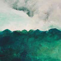 paisaje verde intenso