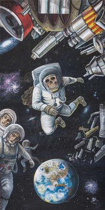 contaminación en el espacio