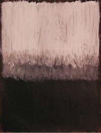 blanc, gris i negre, sobre fons marró