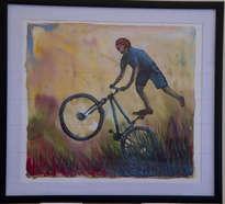 salto en bici