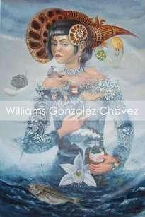 Mujer de azul.