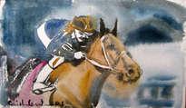 caballo turf jinete