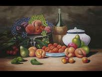bodegón clásico de frutas
