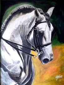 hno. oscar galo ( caballo español 100 x 120 cm ( precio us$ 17,000