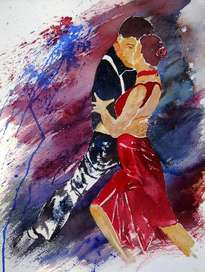 watercolor tango