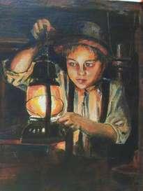 niño con candil