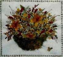 florero con flores secas