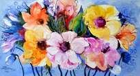 Neighbor flowers,modern art Bissinger
