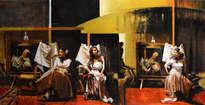 tres mujeres en blanco