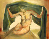 nude with veil