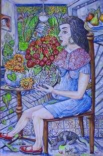 la dama de las flores.