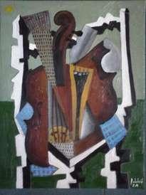 violin y silla