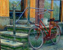 bicicleta y escaleras