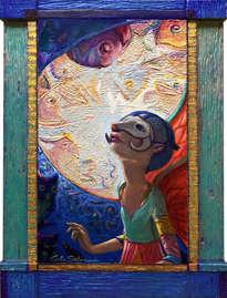 el ángel del carnaval - ( enmarcado )