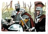 legionarios en el bosque