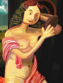 joven desnuda frente al espejo