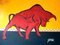hno. oscar galo ( figura de toro 100 x 120 cm ( precio us$ 18,000