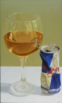 una copa de energizante