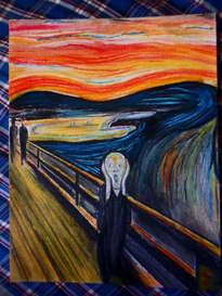 el grito (the scream, edvard munch) hecho a mano