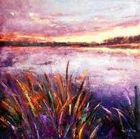 paisaje lila