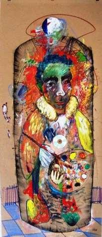 jarrón con retrato