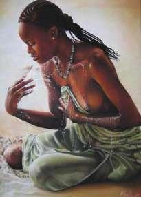 mujer y agua
