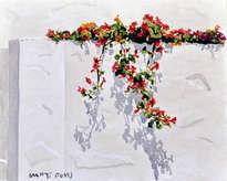 pared y flores