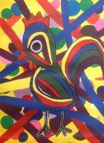 pájaro multicolor