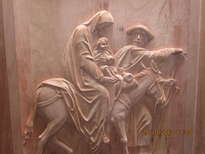 panel bajo relieve (huida a egipto)