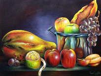 lechosa y frutas sabrosa