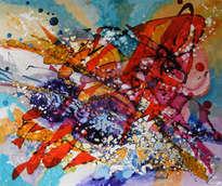dansand cu delfinii abstract