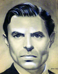 retrato al carboncillo de james mason