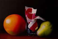 vaso entre frutas