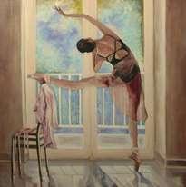 bailarina en el balcon