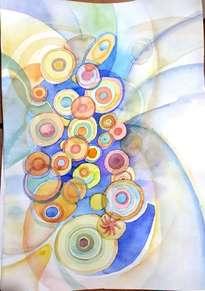 abstracto en acuarela