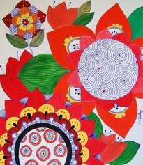 flores y mandala