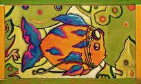 pop, pez aviador - ( listo para colgar )