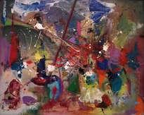 abstracción. escena de batalla