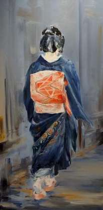geisha caminando