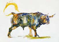 toro azul. en la naturaleza ii