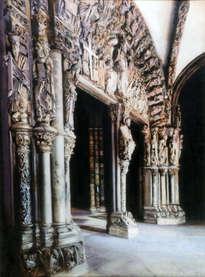 pórtico de la gloria (catedral de santiago de compostela).