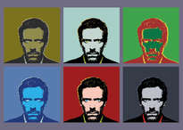 hugh laurie. house m.d. retrato andy warhol